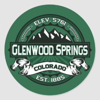 "Glenwood Springs ""Colorado Green"" Logo Stickers"
