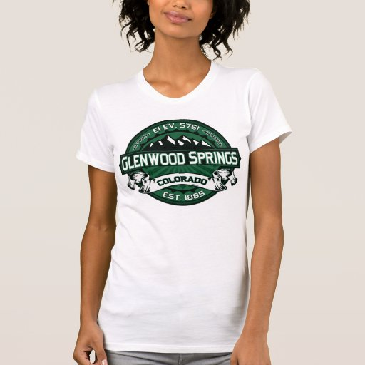 Glenwood springs colorado green logo t shirt zazzle for T shirt printing in colorado springs