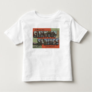 Glenwood Springs, Colorado - Large Letter Scenes 2 Toddler T-shirt