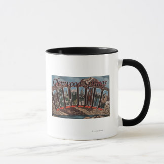 Glenwood Springs, Colorado - Large Letter Scenes Mug