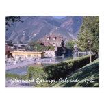 Glenwood Springs Colorado Tarjeta Postal