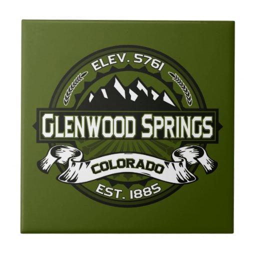 Glenwood Springs Logo Tile