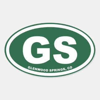 Glenwood Springs Oval Sticker