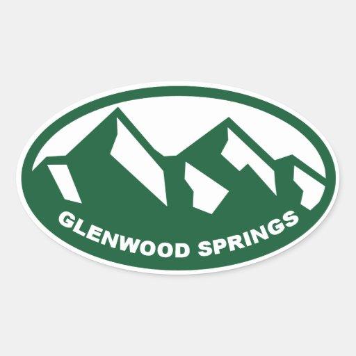 Glenwood Springs Pegatina Ovalada