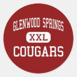 Glenwood Springs - pumas - Glenwood Springs Pegatina Redonda