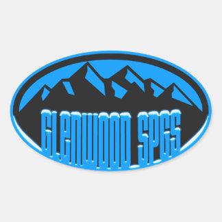 Glenwood Springs Snowcapped Oval Sticker