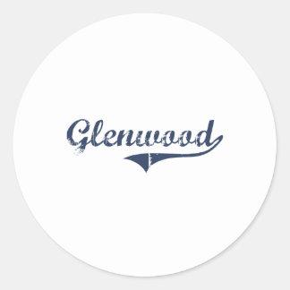 Glenwood Utah Classic Design Classic Round Sticker