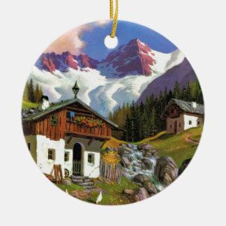 Gletcherwelt, Switzerland Ceramic Ornament