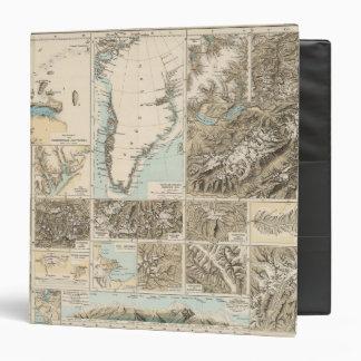 "Gletscherkarte - mapa del atlas del glaciar carpeta 1 1/2"""