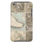Gletscherkarte - mapa del atlas del glaciar iPod Case-Mate carcasas