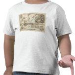 Gletscherkarte - mapa del atlas del glaciar camisetas