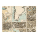 Gletscherkarte - mapa del atlas del glaciar postal