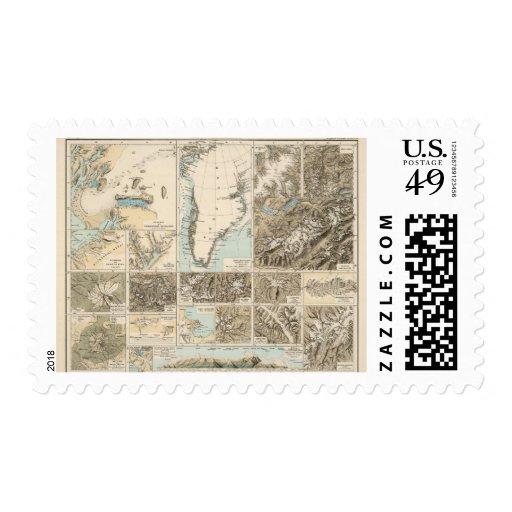 Gletscherkarte - mapa del atlas del glaciar franqueo