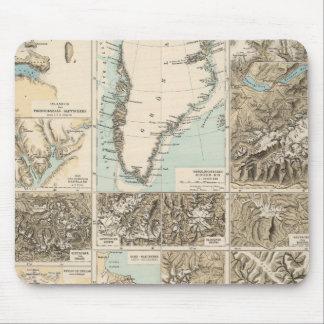Gletscherkarte - mapa del atlas del glaciar tapete de ratones