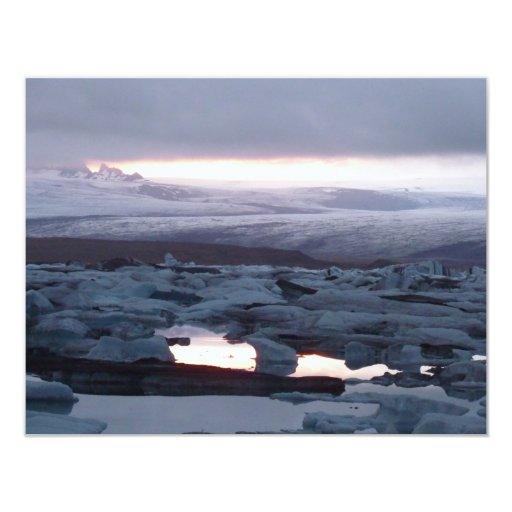 Gletscherlagune Island Card
