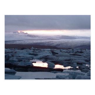 Gletscherlagune Island Postcard