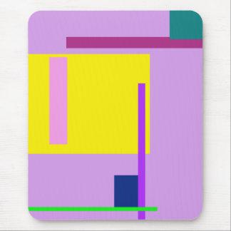 Glicinias artísticas del espacio tapete de ratón
