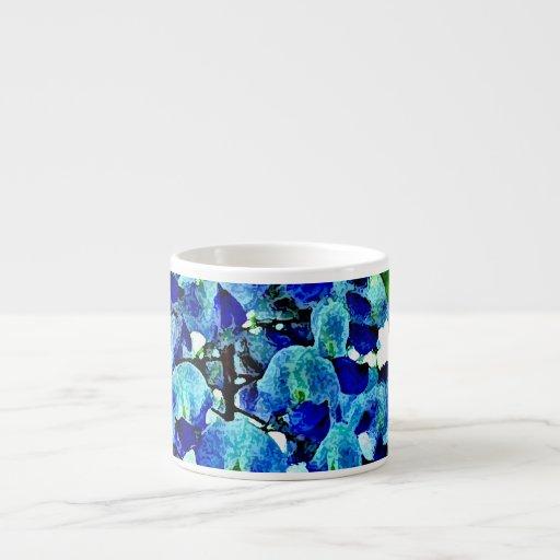 Glicinias azules taza espresso