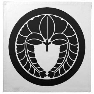 Glicinias colgantes en círculo servilletas imprimidas