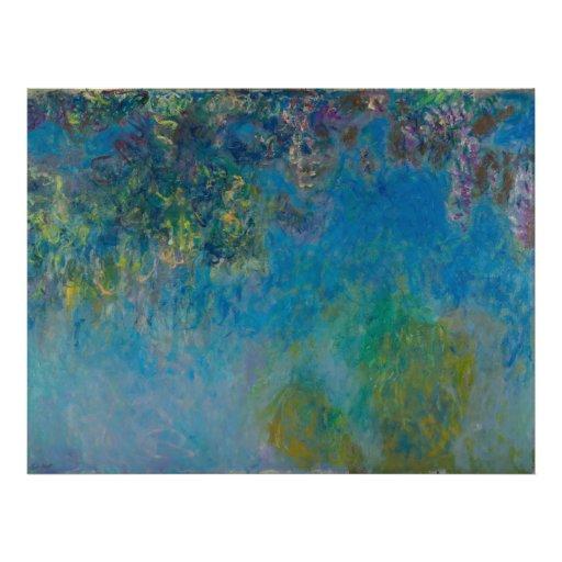Glicinias de Claude Monet Impresión Fotográfica