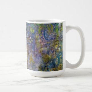 Glicinias de Monet, impresionismo floral del Taza Básica Blanca