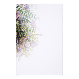 Glicinias púrpuras brumosas - 1 inmóvil papeleria