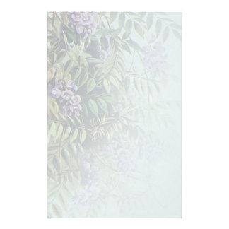 Glicinias púrpuras brumosas en azul claro - 2 papeleria de diseño