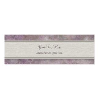 Glicinias púrpuras del vintage con el monograma plantillas de tarjetas personales