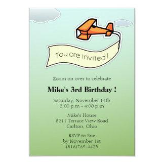 Glider -Birthday Party Invitation-3 Card