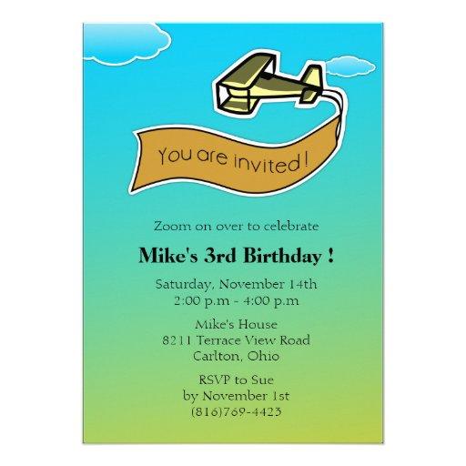 Glider -Birthday Party Invitation-4