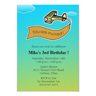 Glider -Birthday Party Invitation-4 Card