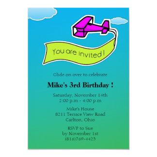Glider -Birthday Party Invitation-5 Card