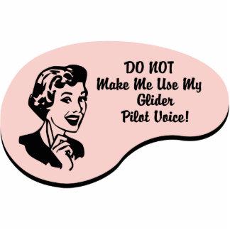 Glider Pilot Voice Photo Cutout