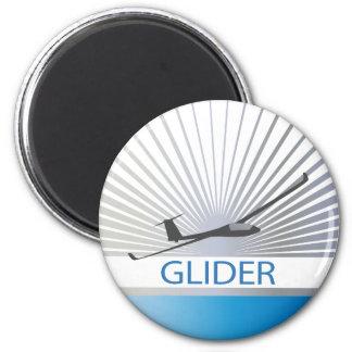 Glider Sailplane Aircraft 2 Inch Round Magnet