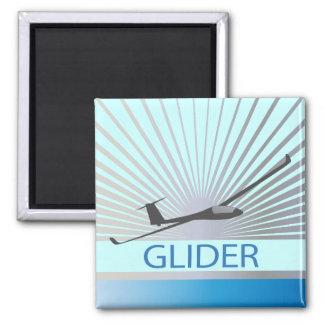 Glider Sailplane Aircraft 2 Inch Square Magnet