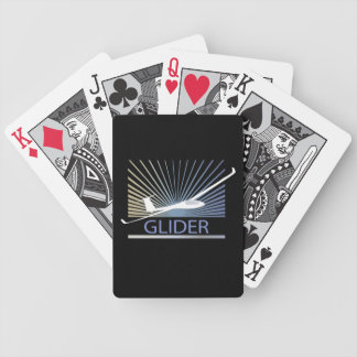 Glider Sailplane Aircraft Bicycle Playing Cards