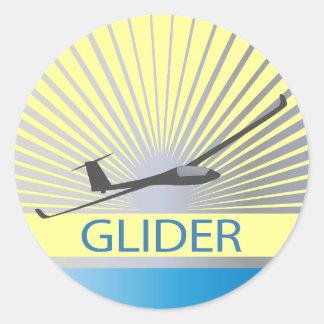 Glider Sailplane Aircraft Classic Round Sticker