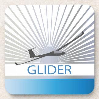 Glider Sailplane Aircraft Drink Coaster