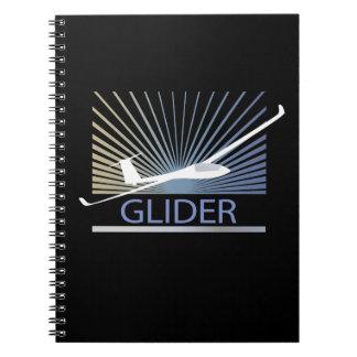 Glider Sailplane Aircraft Spiral Note Book