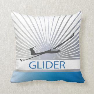 Glider Sailplane Aircraft Throw Pillow
