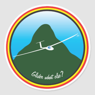 Glider - What else? Classic Round Sticker
