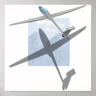 Gliding canvas print