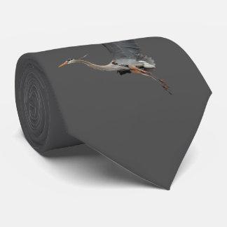 Gliding Great Blue Heron Wildlife Design Tie