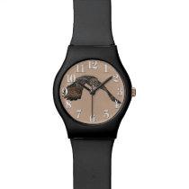 Gliding Great Grey Owl Wildlife Raptor Wrist Watch