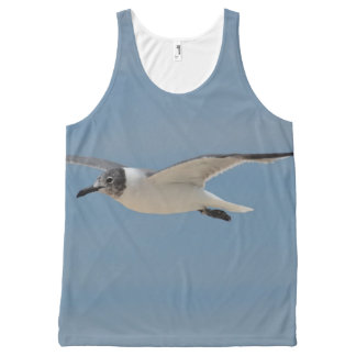 Gliding Laughing Gull All-Over Print Tank Top