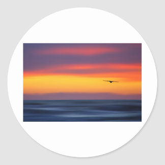 Gliding Out to Sea Classic Round Sticker