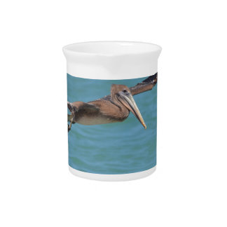 Gliding Pelican Beverage Pitchers