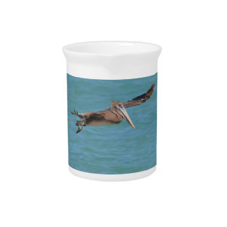 Gliding Pelican Drink Pitcher