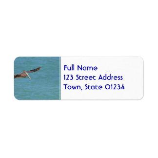Gliding Pelican Label