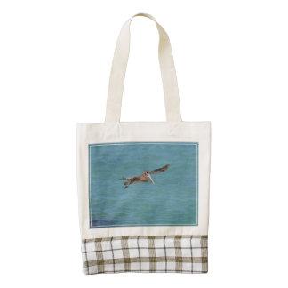 Gliding Pelican Zazzle HEART Tote Bag